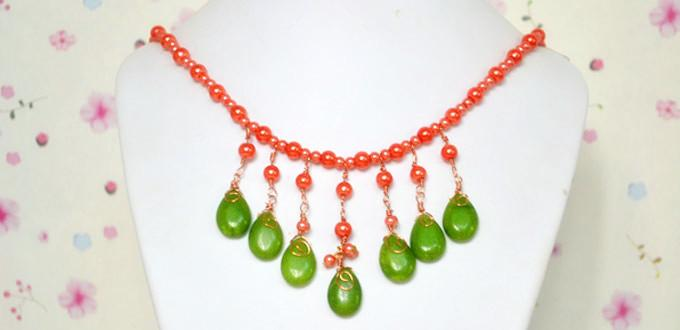 Step-by-step Tutorial on Making a Beaded Fringe Necklace