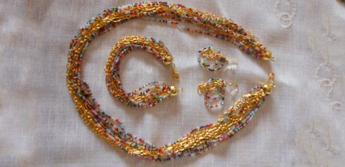 DIY Beaded Chain Jewelry Set – How to Make Jewelry with Seed Beads and Golden Chains