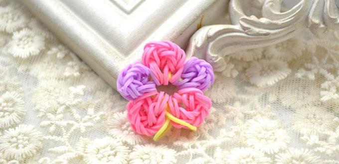 How to Loom a Handmade Colorful Flower with Rubber Bands