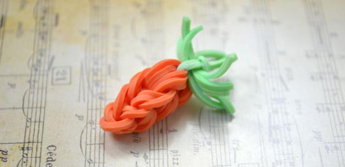 How To Make Mini Carrot Rubber Band Charms Without Loom