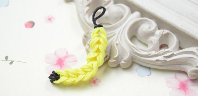 Cute Crafts on How to Do Loom Band Banana Charm