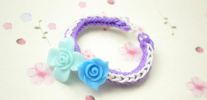 How To Make A Rose Double Cross Loom Bracelet With Rubber
