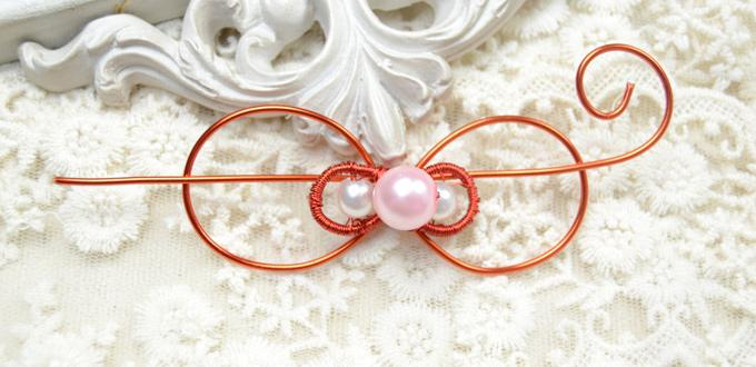 How to Make a Wire Bow Hair Clip for Wedding Guests