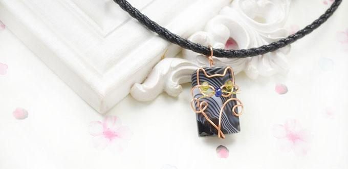 How to wire wrap a cute cat above stones for pendants pandahall how to wire wrap a cute cat above stones for pendants mozeypictures Choice Image