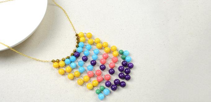 Perfecto Sundress Socio-hacer su propia Declaración Fringe collar con cuentas de colores