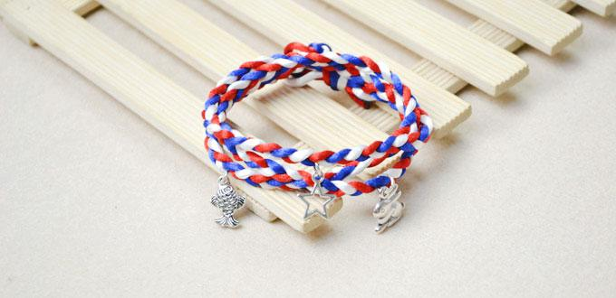 How to Make a Wrapped Braid Bracelet with Charms