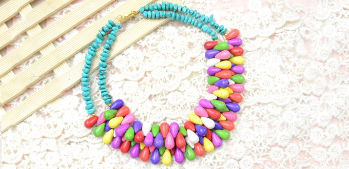 Summer Necklace for 2014-Making a Hawaiian Chunky Turquoise Bead Necklace