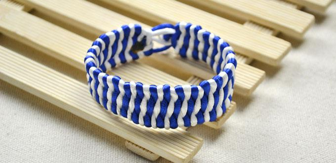 How To Make Cool Friendship Bracelet For Guys With Nylon Cords