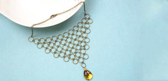 Comment faire un collier de cha ne maille bronz e avec - Comment faire un collier en perle ...