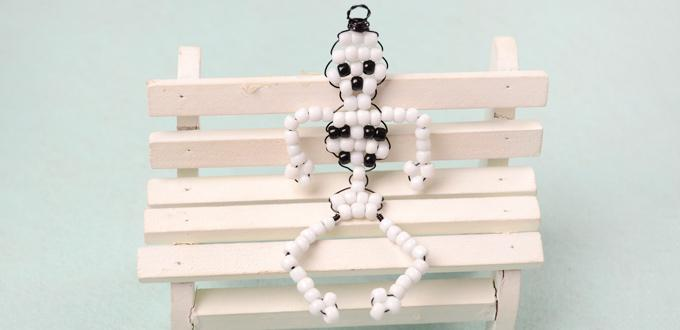 How to Make Beaded Human Skeleton Model for Kids