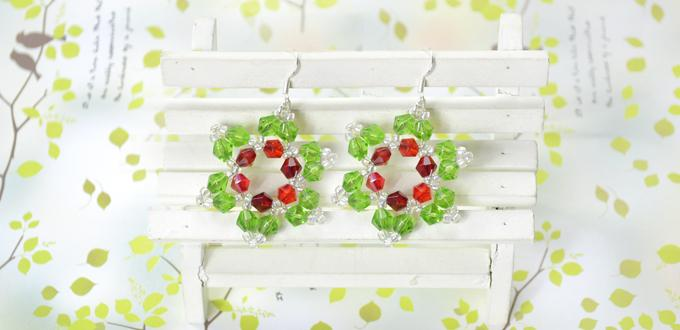 Christmas Jewelry Ideas on How to Make Crystal Beaded Snowflake Earrings