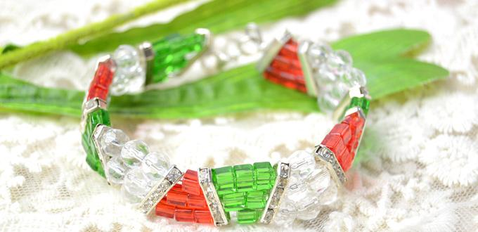 How to Make a Three Strand Beaded Bracelet for Approaching Christmas Day