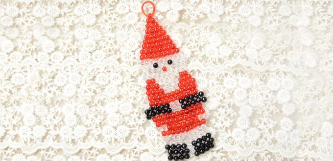 Christmas Craft Tutorial-How to Make a Beaded Santa Claus Ornament