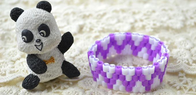 How to Make a Wave Perler Bead Bracelet for Kids