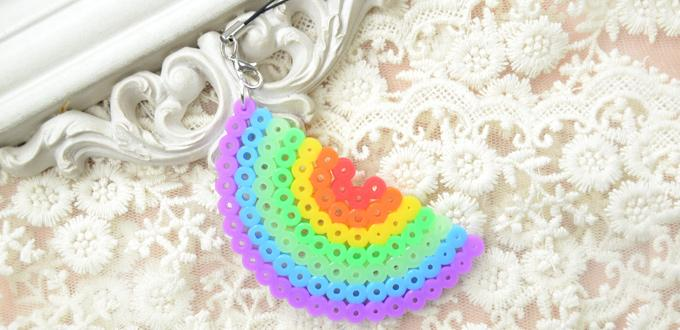 How to Make Perler Bead Rainbow Designs for Hang Decoration