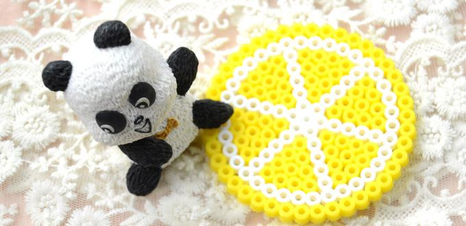 Easy Perler Bead Designs-How to Make Perler Bead Lemon Coasters