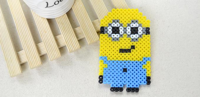 Cartoon Character Designs on How to Make a Cute Minion out of Perler Beads