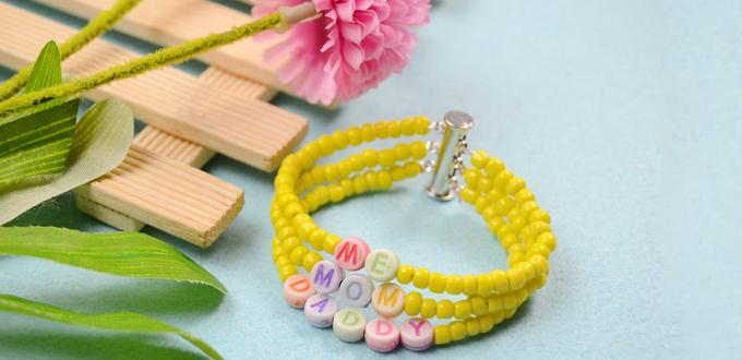 Multi Strand Beaded Bracelet Pattern -Making a Personalized Family Bracelet
