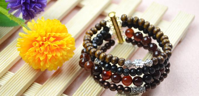 How to Make Multistrand Cool Beaded Bracelet for Men