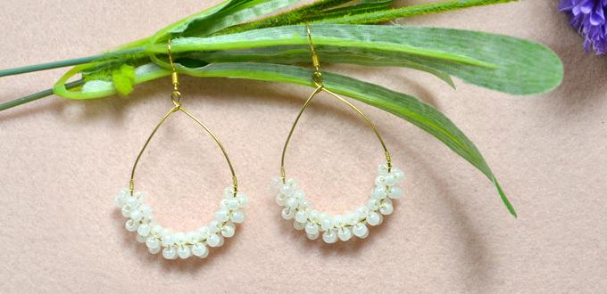How to Make Your Own Teardrop Hoop Earrings at Home