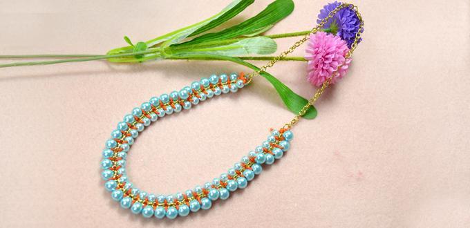 jewelry making , jewelry making tutorial  ,diy jewelry , diy necklace
