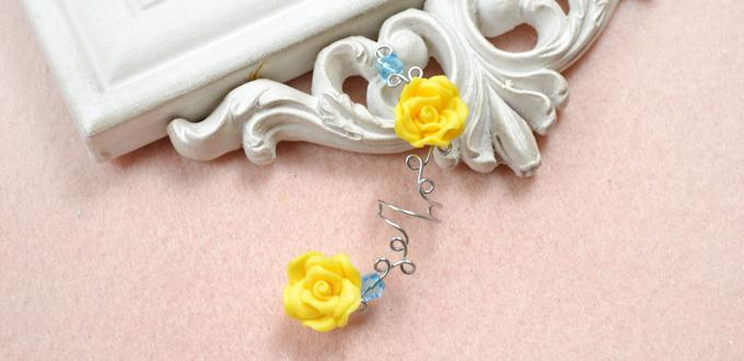 How to Make Your Own Flower Ear Cuff Out of Wires and Beads