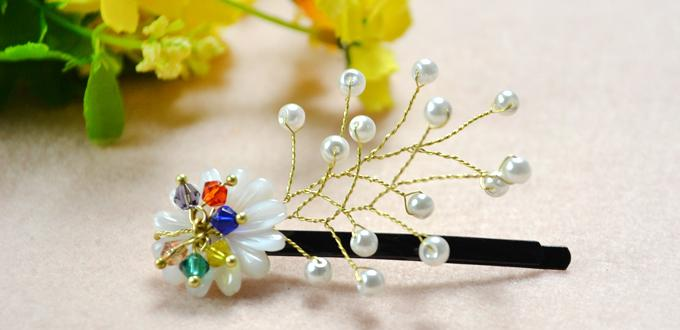 How to Make Floral Hair Clips with Wires and Beads