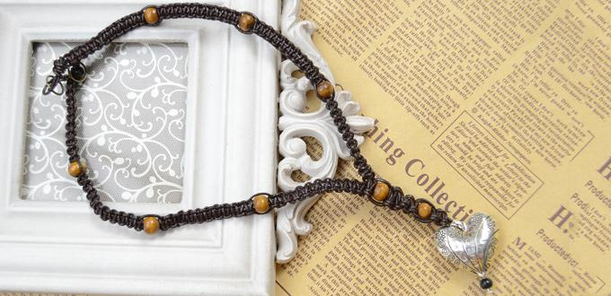 How to Make a Braided Brown Leather and Bead Necklace for Men
