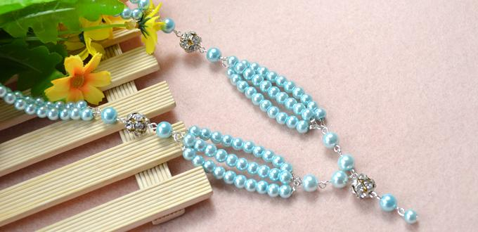 Pearl Jewelry Designs- How to Make a Beaded Long Fashion Necklace with Pearls