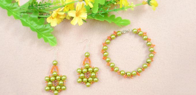 How To Make Olive Pearl Bead Jewelry With Orange Seed Be At Home