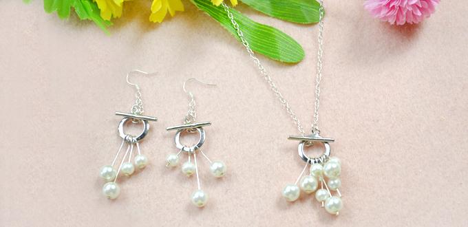 Simple OL Pattern on How to Make Your Own Silver Jewelry with Ivory Pearls