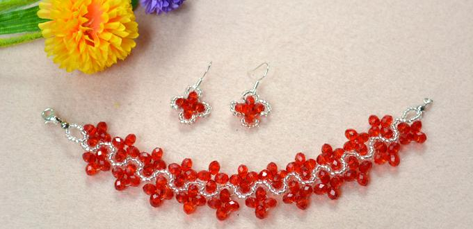 How To Make Red Handmade Jewelry Sets With Crystals Pandahall Com
