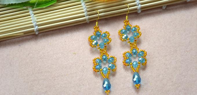How to Make Beaded Flower Earrings Tutorial with Simple Beading Techniques