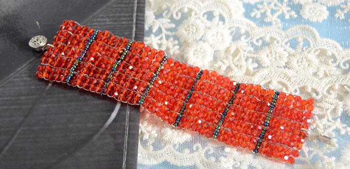How to Do a Beaded Ladder Stitch Bracelet