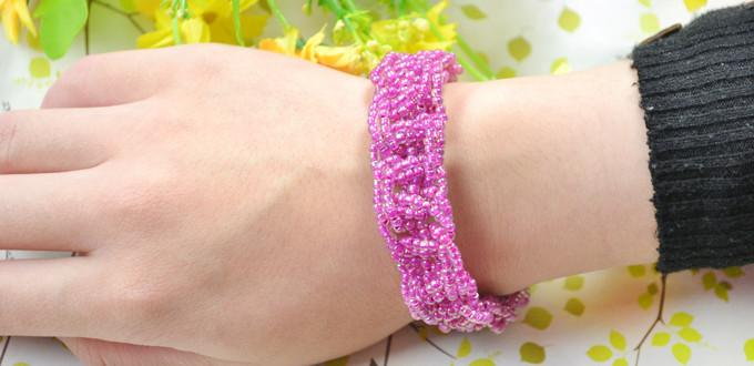 Homemade Beaded Bracelet Ideas – How to Make a Woven Seed Bead Bracelet without a Loom