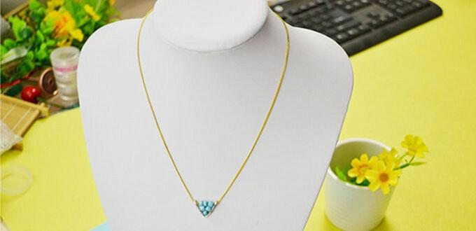 Easy DIY Project on Making Wire wrapped Triangle Pendant Necklace ...