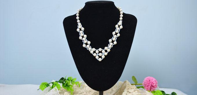 Handmade Pearl Jewelry Design-How to Make a Fashion Beaded Pearl Necklace
