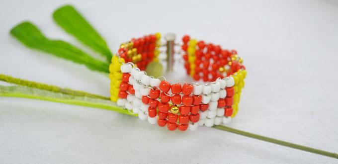Beaded Bracelet Ideas-How to Make Wide Stitch Beading Bracelet Patterns