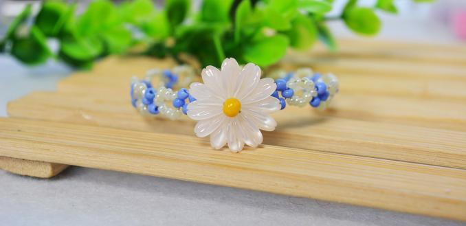 How to Make a Daisy Beaded Flower Bracelet Pattern in 15 Minutes