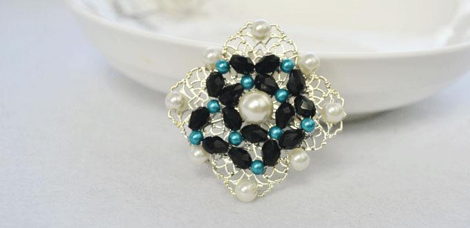 How to DIY Vintage Style Pearl Brooch with Glass Beads