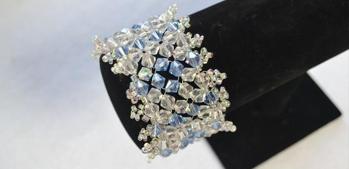 Beaded Bracelet Tutorial-How Do You Make a Crystal Beaded Stitch Bracelet