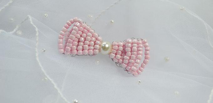 How to Make Your Own Stitch Pink Beaded Hair Bows Tutorial
