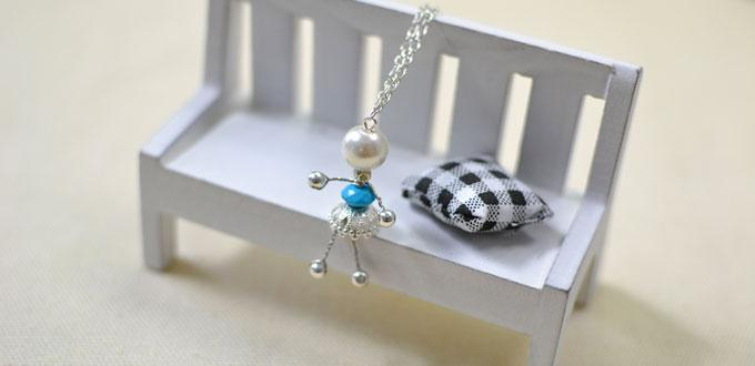 How to Make Adorable Wire Wrapped Silver Fairy Pendant Necklace