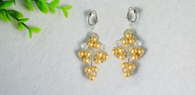 Diy Pearl Crystal Earrings Instructions On Making Beaded