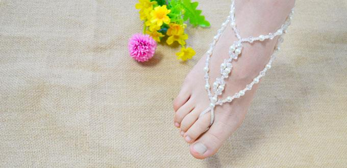 How to Make a Pair of Barefoot Sandals-DIY Bead Anklets at Home
