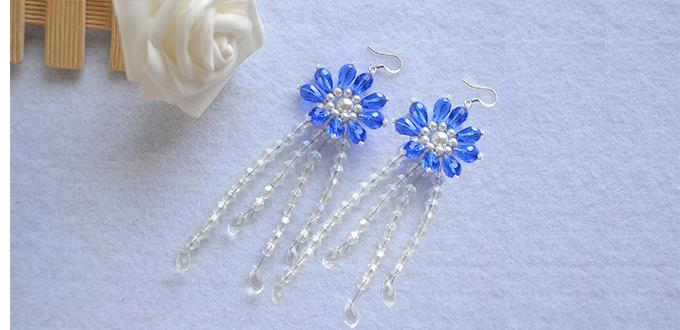 How to Make a Pair of Handmade Beaded Flower Earrings with Beads