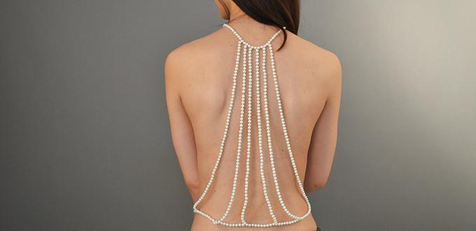 How to Make Fashion White Pearl Body Necklace Jewelry