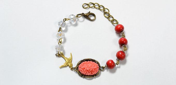 Easy Bracelet Making Tutorial with Beads and Chains for Beginners