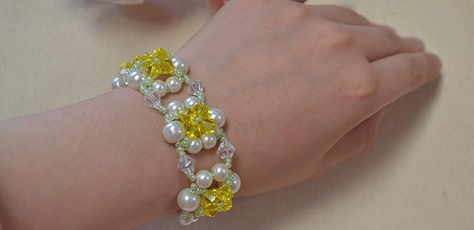 Beaded Bracelet Diy A Tutorial On Making Flower