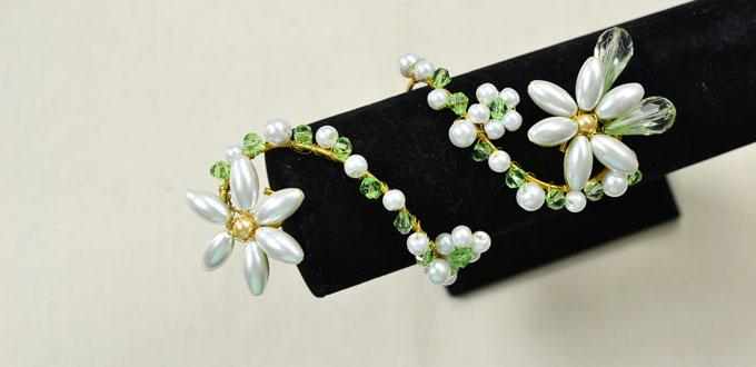 How to Make a Personalized Wire Wrap Pearl Flower Bracelet